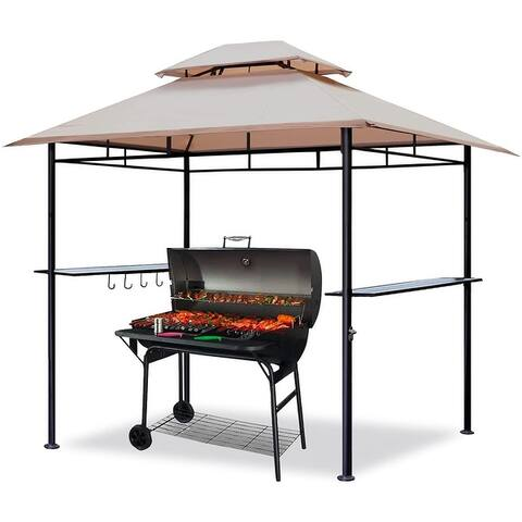 CoastShade 6'x 9' Grill Gazebo Double Tiered Outdoor BBQ Canopy