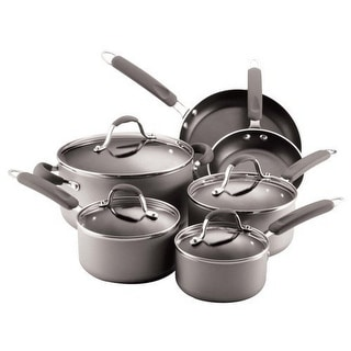 Farberware 20772 Enhanced Aluminum Nonstick 10-Piece Cookware Set Silver