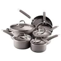 Farberware 20772 Enhanced Aluminum Nonstick 10-Piece Cookware Set Silver