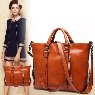 Women Leather Bags Tote Handbags Messenger Bag Shoulder