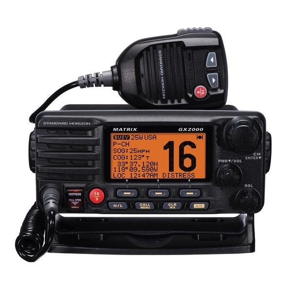 Standard Horizon Matrix GX2000 VHF w/Optional AIS Input 30W PA - GX2000B