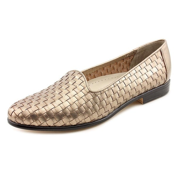 Trotters Liz Women N/S Round Toe Leather Bronze Loafer