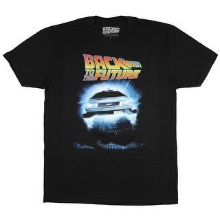 Back to the Future Shirt Men's DeLorean OUTATIME License Plate Poster Tee