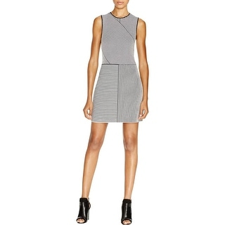 Theory Womens Irelia Casual Dress Striped Contrast Trim
