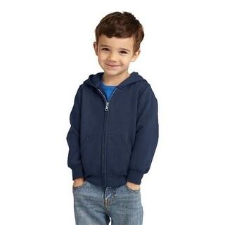 CAR78TZH Toddler Full Zip Hooded Sweatshirt, Navy - 3 Toddler