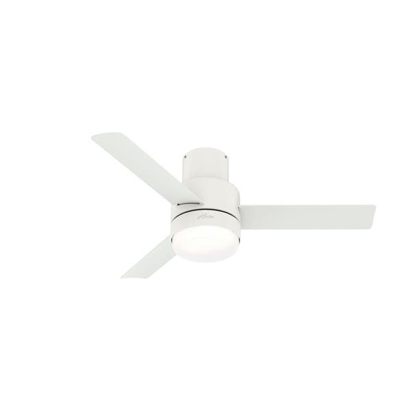 Hunter 44 Gilmour Outdoor Low Profile Ceiling Fan With Led Light Kit And Handheld Remote Overstock 32394827