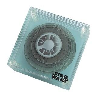 Star Wars 3D Death Star 9 pc. Glass Coaster Set