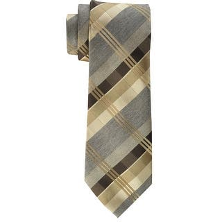 Geoffrey Beene NEW Taupe Brown Men's Plaid Print Skinny Neck Tie|https://ak1.ostkcdn.com/images/products/is/images/direct/b7d2e0cd35eeca4dee5471c5873b4e2f824ad4b5/Geoffrey-Beene-NEW-Taupe-Brown-Men%27s-Plaid-Print-Skinny-Neck-Tie.jpg?impolicy=medium