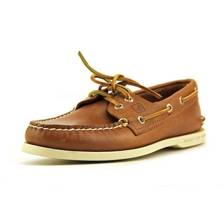 Sperry Top Sider A/O 2-Eye Men Moc Toe Leather Tan Boat Shoe