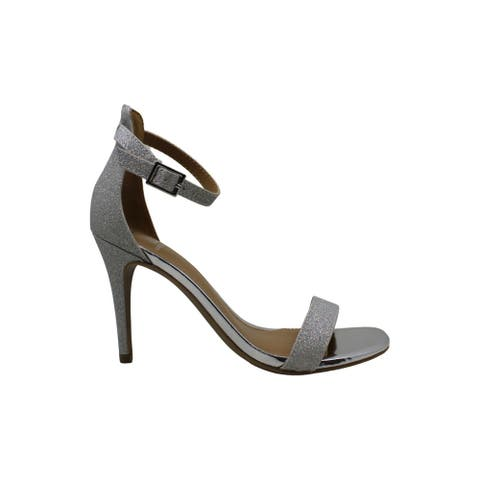 Material Girl Womens Blaire Open Toe Ankle Strap Classic Pumps