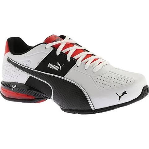 ecf87fa773ac9 PUMA Men's Cell Surin 2 FM Sneaker Puma White/Puma Black/Flame Scarlet
