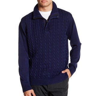 Weatherproof NEW Navy Blue Mens Size Small S Pullover 1/2 Zip Sweater