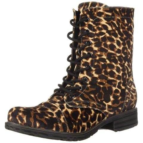 Volatile Womens Underground Closed Toe Ankle Combat Boots