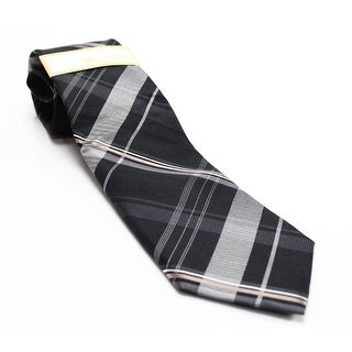 Michael Kors NEW Black Mens One Size Parlamentarian Plaid Neck Tie