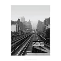 ''Next Stop Harlem'' by Ellen Fisch New York Art Print (17 x 14 in.)