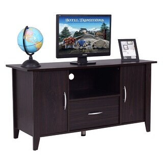 Costway Modern TV Cabinet Media Unit Storage Shelf TV Stand Media Console Furniture Home