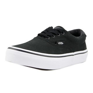 Vans (Vintage Sport) ERA 59 Youth Round Toe Leather Black Sneakers (Option: 13)