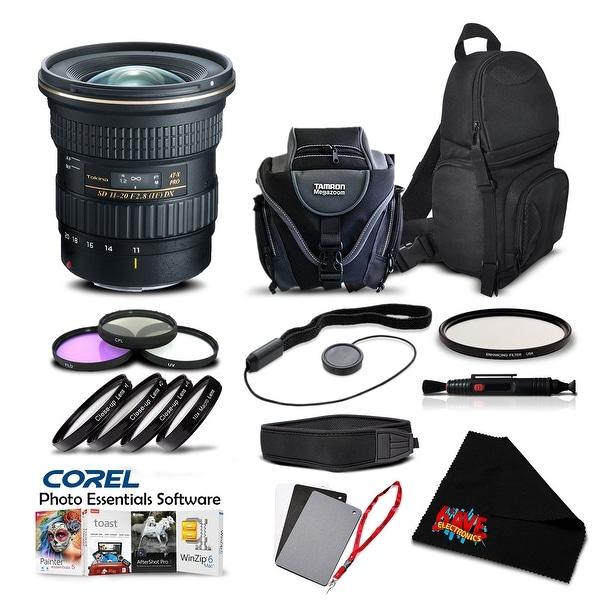 Tokina AT-X 11-20mm f/2.8 PRO DX Lens for (for Canon) (Intl Model) Lens Accessory Kit - Black