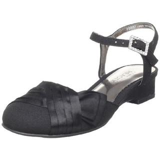 Kenneth Cole Reaction Girls Sweet Gleam Crepe Wedge Heels - 3 medium (b,m)