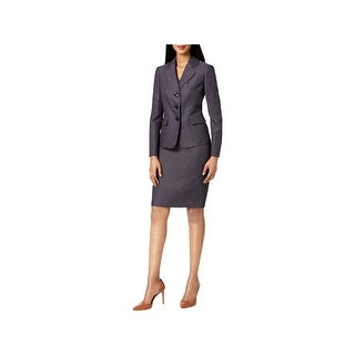 Le Suit Womens Petites Skirt Suit Business Attire Professional