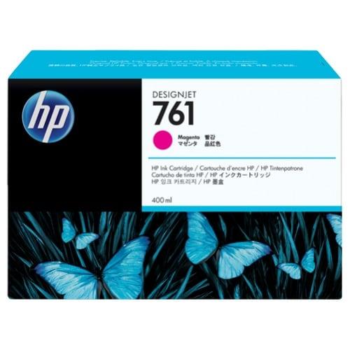 HP 761 400-ml Cyan DesignJet Ink Cartridge (CM993A)(Single Pack)