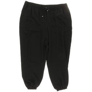 Ralph Lauren Womens Plus Bydia Casual Pants Drawstring Polyester