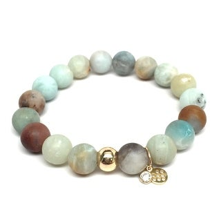 "Green Amazonite Emma 7"" Bracelet"