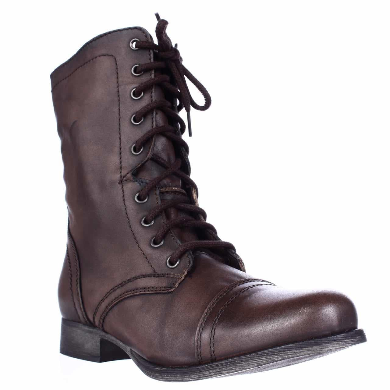 quality products promo code newest Shop Steve Madden Troopa Lace-Up Booties, Brown - Free Shipping ...