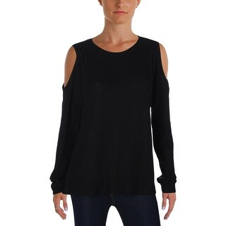 Michelle by Comune Womens Sweater Open Shoulder Crew
