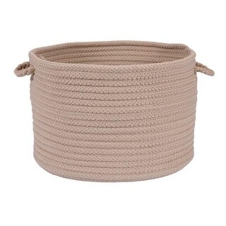 Simply Home Solid - Cuban Sand 18 in. x 12 in. Utility Basket
