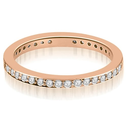 0.80 cttw. 14K Rose Gold Round Diamond Eternity Ring,HI,SI1-2