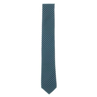 Tommy Hilfiger Mens Bold Mini Dot Neck Tie Silk Pattern - Aqua/Navy