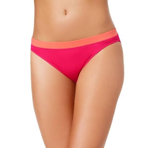 Ralph Lauren Women's Beach Club Banded-Waist Bikini Bottoms, Pink, 4