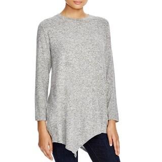 Nally & Millie Womens Tunic Sweater Heathered Asymmetric