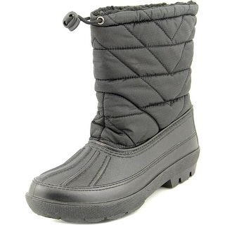 Dirty Laundry Booster Pak Women Round Toe Canvas Black Winter Boot