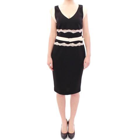 Cavalli Black lace sheath Women's dress
