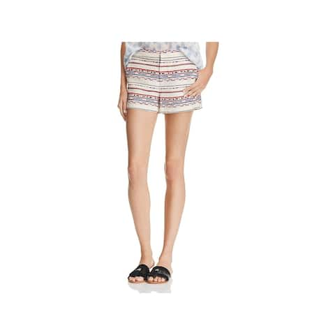 Joie Womens Merci Casual Shorts Woven Patterned