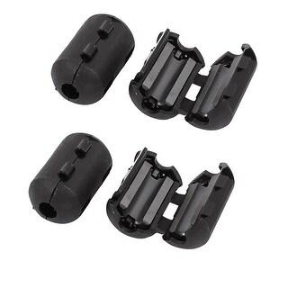Unique Bargains 4 Pcs B90 Data Printer AV Cable Clip on Ferrite Core Ring Black