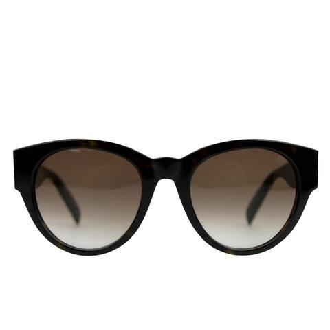 Alexander McQueen Unisex Spikes Havana Plastic Square Acetate Sunglasses AM0054S 442136 2302 - One size