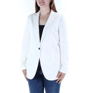 ANNE KLEIN $139 Womens New 1324 White Blazer Wear To Work Jacket 12 B+B