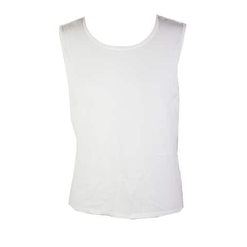 Calvin Klein White Solid Sleeveless Top 2