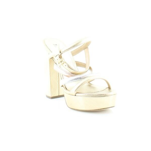 Michael Kors Nantucket Platform Sandals Women's Heels PL GLD/SILV/RGOLD - 5.5