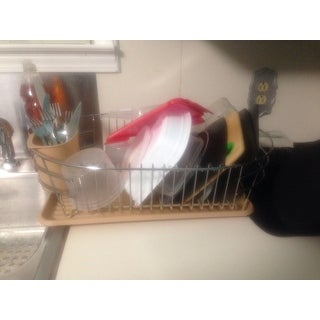Shop Extra Large Metal Wire Dish Rack With Drain Board On Sale