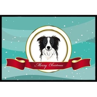 Carolines Treasures BB1551JMAT Border Collie Merry Christmas Indoor & Outdoor Mat 24 x 36 in.