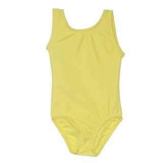 Little Girls Lemon Yellow Full Front Lining Tank Dancewear Leotard