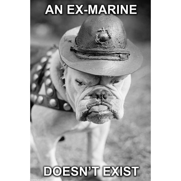 An Ex-Marine - Armed Forces - 36x24 Matte Poster Print Wall Art