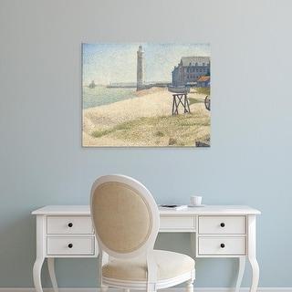 Easy Art Prints 's 'The Lighthouse at Honfleur, 1886' Premium Canvas Art