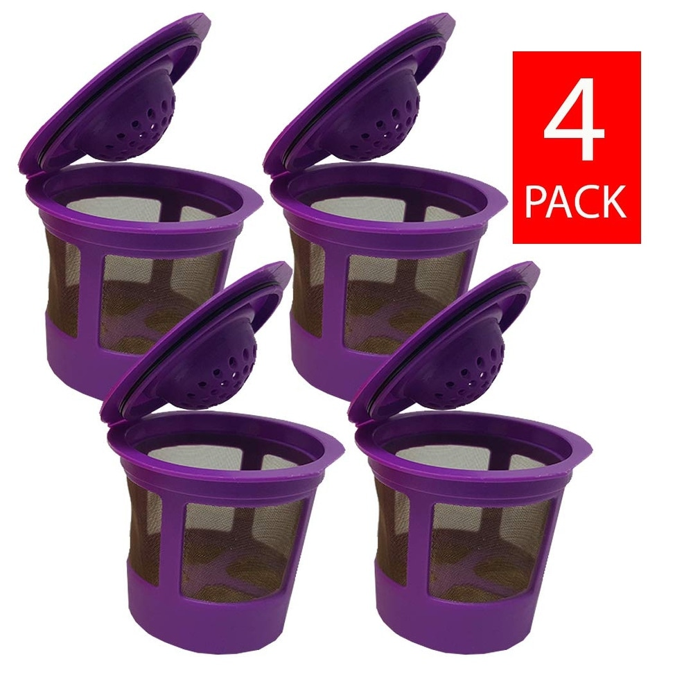 6 Pack Reusable K Cup Filter Basket Refillable Coffee Pod Capsule for Keurig