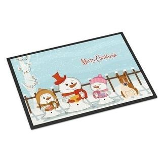 Carolines Treasures BB2466MAT Merry Christmas Carolers Bull Terrier Red White Indoor or Outdoor Mat 18 x 0.25 x 27 in.