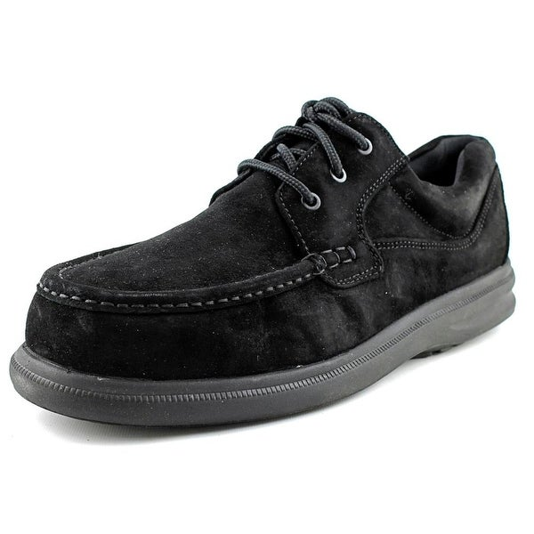Hush Puppies Gus Men EW Round Toe Suede Black Oxford